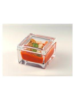 Scatolina in vetro con coperchio -