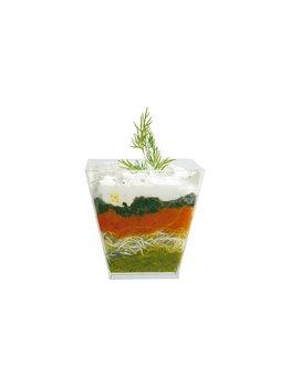 Coppetta geometrica in plastica verde acqua -