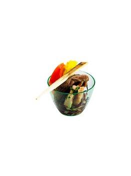 Mini coppetta in plastica verde acqua -