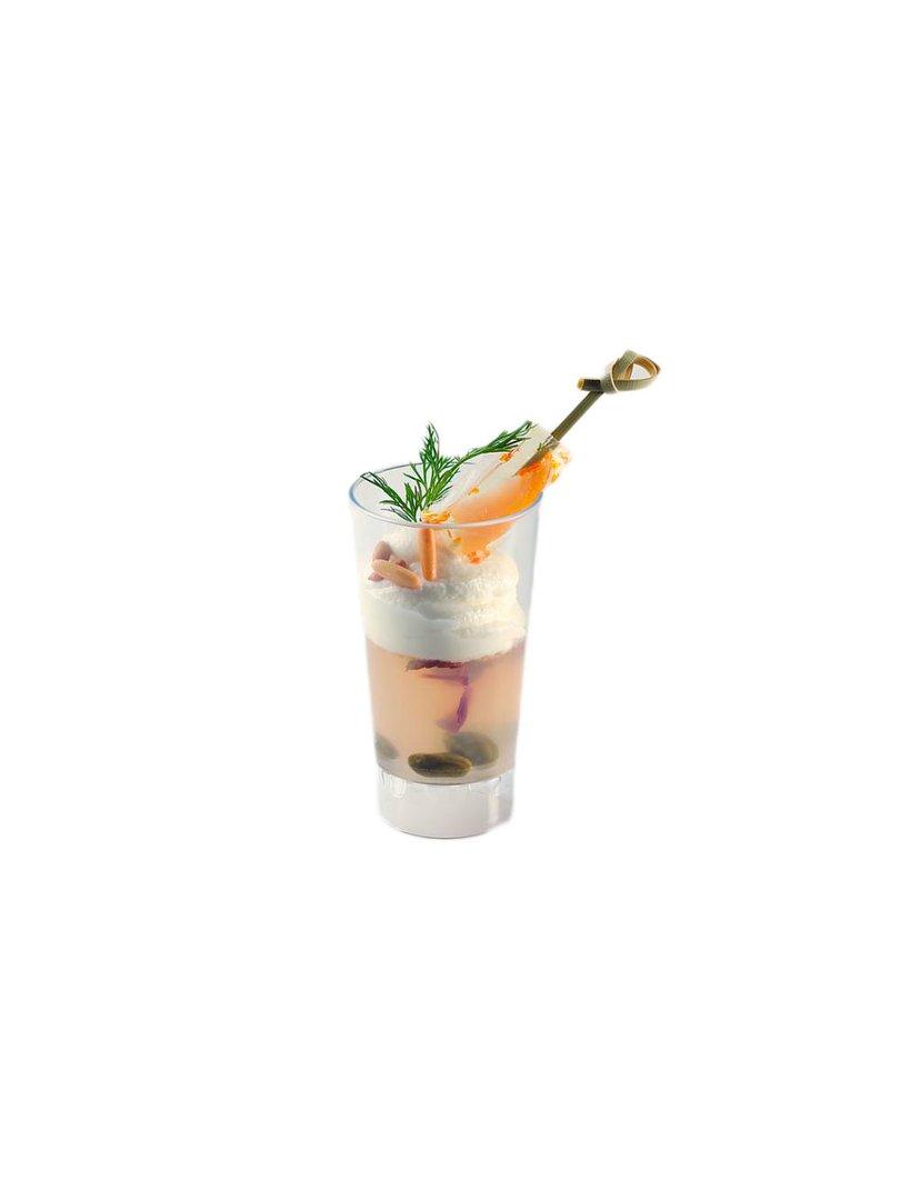 Acquista il prodotto Bicchierino alto in plastica trasparente 8 cl