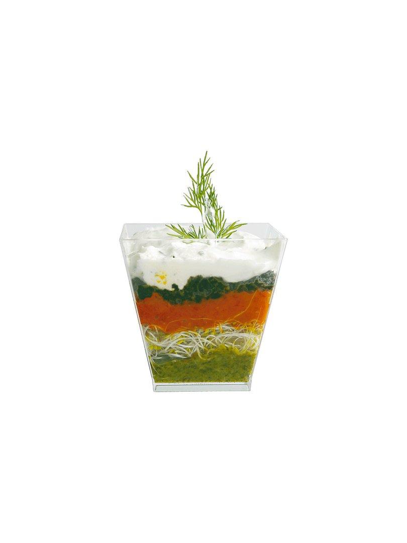 Acquista il prodotto Coppetta geometrica in plastica verde acqua